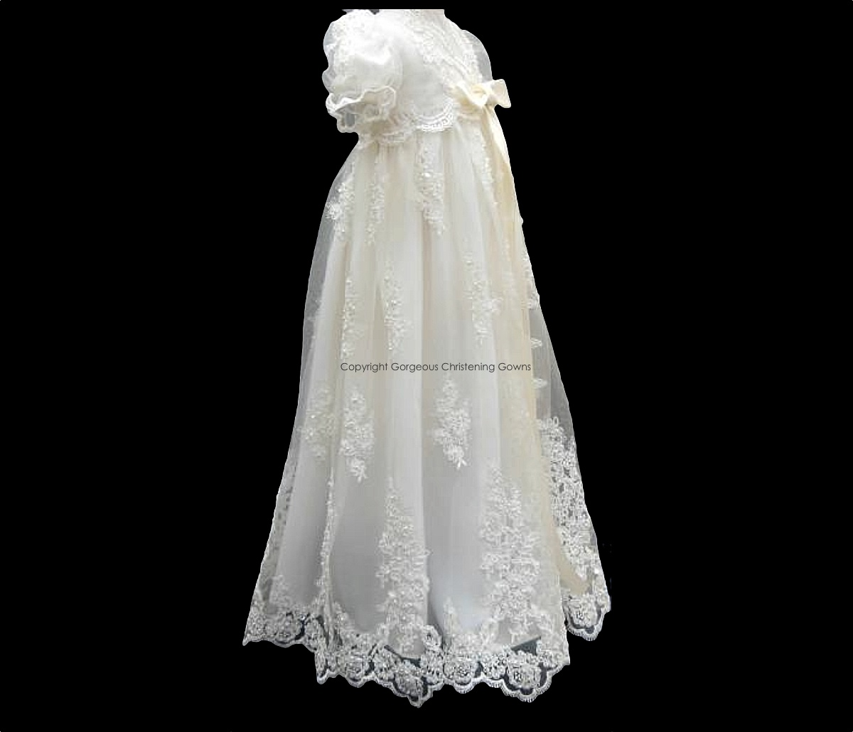 Charlotte Side View - Gorgeous Christening Gowns